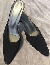 Women's 8 1/2 Black Stuart Weitzman Mule Heels