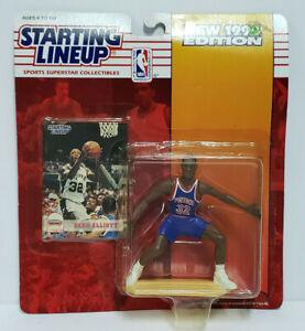 SEAN ELLIOTT - Detroit Pistons Starting Lineup SLU 1994 NBA Action Figure & Card