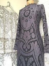 Black Floral Lace Dress Sz S 2 Valentino Stl