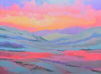 ADAM SEA KLEIN TOPIC Glowing Vista in Magenta Light Art Painting Original