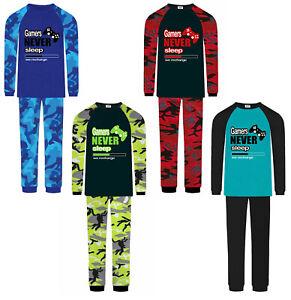 Jujak Boys Gaming Pyjamas Pjs Gamers Never Sleep Premium & Prestige Ranges