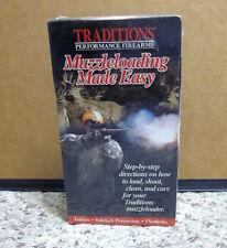 MUZZLELOADING MADE EASY shooting flintlock inlines VHS guns Jim Bruno sidelock