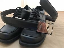 2-for-1 Black Dress Oxford Boy's Shoes NWOB - Size 1 - $25 and Black/Brown belt.