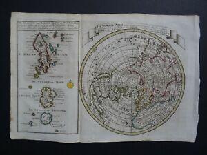 1788 GRAVIUS  Atlas Keizer / De Lat map  NORTHERN HEMISPHERE  California Island