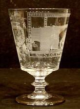 ANTIQUE Georgian SUNDERLAND BRIDGE Finely Engraved RUMMER Wine Glass Goblet