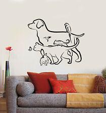 Vinyl Wall Decal Dog Cat Rabbit Veterinary Pet Shop Animals Stickers (g2030)