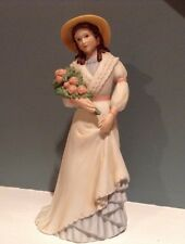 """Vintage Homco Ceramic Figurine """" Miss Charlotte with Rose Bouquet"""" numbered 1468"""
