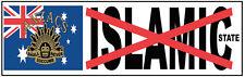 ANZAC STICKER AUSSIE PRIDE ANZAC NEVER SUCCUMB TO ISLAMIC STATE INFIDEL STICKER