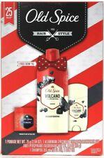 Old Spice 1938 Hair Style Valcano Charcoal Pomade Deodorant Shampoo Bow Tie Set