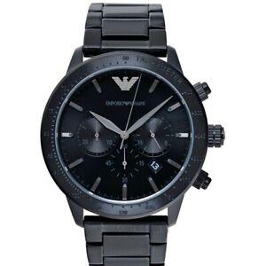 EMPORIO ARMANI  AR11242 Black Dial Men's Watch Genuine FreeS&H