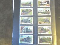 1937 Gallaher  TRAINS OF THE WORLD a set of 48 cards Tobacco Cigarette card