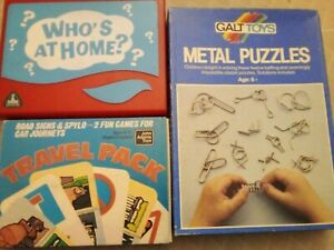 3 Travel Games..who at Home..metal Puzzles..2 Card Games..3 Games...
