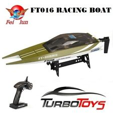 Feilun FT016 2.4g 30km/h High Speed Racing Flipped RC Boat Electric Toy RTR 8j