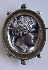 Vintage Signed SILVER CAMEO BROOCH - A. CAIN  (Solid Silver)              (3L20)