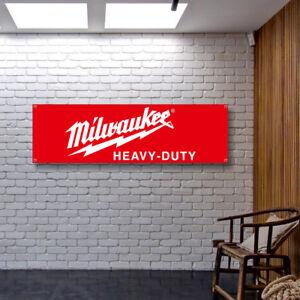 MILWAUKEE Banner Vinyl or Canvas Advertising Garage Sign Flag Poster MANY SIZES
