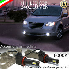 KIT LED CHRYSLER GRAND VOYAGER V LAMPADE H11 FENDINEBBIA CANBUS 6400 LUMEN 6000K