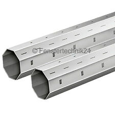 (5,90 €/m) 2 x 40er Achtkantstahlwelle je 150 cm Stahlwelle SW40 für Rollladen