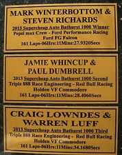 2013 Bathurst Winners Tribute 2nd & 3rd Gold Plaque Choose 1