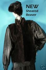 NEW W TAGS SHEARED BEAVER FUR FASHION JACKET MED9-12