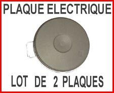 Plaques électriques LOT DE 2 pour cuisinette 1 de  Ø 180 mm + 1 de  Ø 145  mm