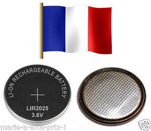 Rechargeable Battery LIR2025 3.6V LI-ION Corner Lir 2025 Accumulator