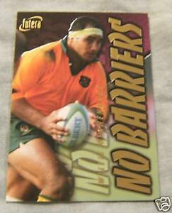 1996 AUST. RUGBY UNION CARD NB5 - WILLIE OFAHENGAUE