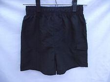BNWT Boys Sz 7 Smart Black/Grey Urban Supply Elastic Waist Swim Board Shorts
