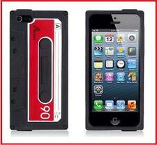 Coque Housse Etui K7 cassette casette cassete silicone Pour IPhone 5 5S