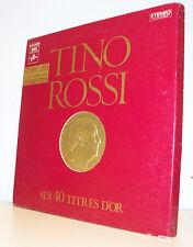 3 x 33T Tino ROSSI Coffret Livre 3 disques 40 TITRES D'OR - COLUMBIA 2C15212267