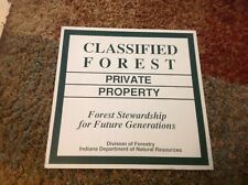 Classified Forest Division Of Forestry Metal Sign