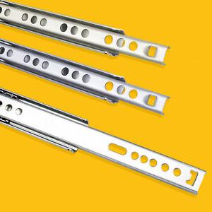 Schubladenschienen TEILAUSZUG Teleskopschienen Kugelauszüge 27 mm und 17 mm NEU