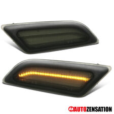 For 2012-2014 Benz W204 C Class SMD LED Smoke Front Side Marker Signal Lights