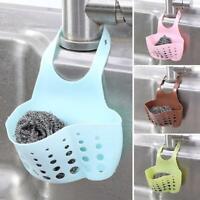Kitchen Sink Faucet Sponge Soap Storage Organizer Cloth Drain Rack R8D9