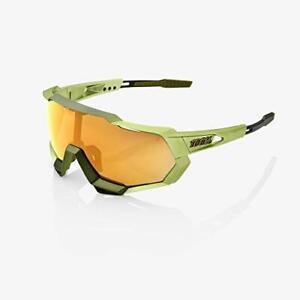 100% Speedtrap Sunglasses Matte Metallic Viperidae Bronze Multilayer Mirror