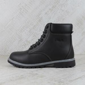 Womens Fila Maverick Mid Leather Boot Black (PEF4) RRP £119.99