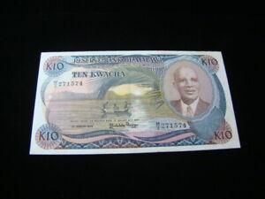 Malawi 1986 10 Kwacha Banknote XF Pick #21a