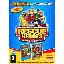 FISHER PRICE RESCUE HEROES PC CD-ROM/MAC TWIN SET LAVA LANDSLIDE, MISSION SELECT