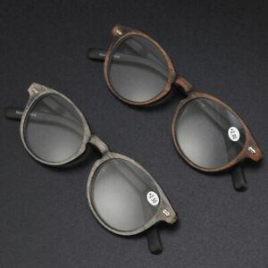 Imitation wood grain reading glasses For reader spring legs +1.0 to +4.0