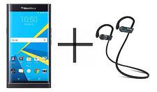 BlackBerry PRIV Unlocked GSM Black Phone bundled w/ SHARKK Flex 2o Headphone