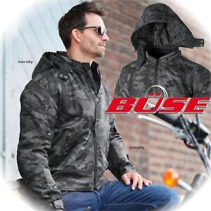 Büse Motorrad Hoody Downtown Camouflage Motorradjacke Jacke Hoodie m Protektoren