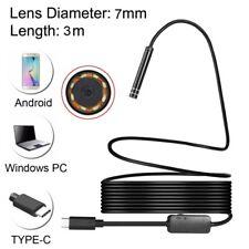3m USB-C / Type-C Endoscope Waterproof Snake Tube Inspection Camera + 8 LED