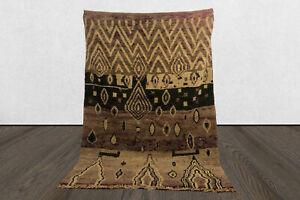 Moroccan berber 6x8 vintage area rug, tribal Handmade worn wool boho azilal rug