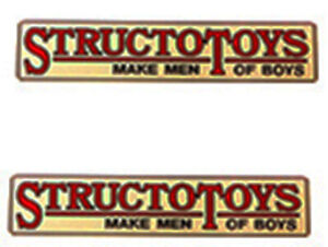 """replacement Structo truck  water slide decal """"Make Men of Boys"""" decal set"""