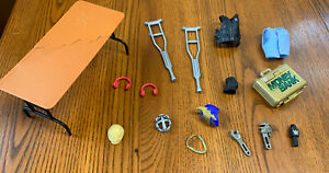 WWE Action Figure Accessories lot Mattel - Money In The Bank Table Crutches