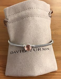 David Yurman chatelaine Bracelet With Morganite 925 Sterling Silver 3mm (special