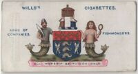 Fishmongers' Company London England Guild Fish Sales 100+ Y/O Trade Ad Card