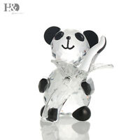Panda Crystal Figurines Paperweight Collectible Animal Ornaments Birthday Gifts