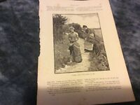Antique Book Print - Ursula Walked Slowly Away - 1885