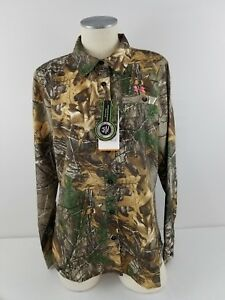 NWT Women's Under Armour Realtree Camo Performance Button Down L Shirt 1253209