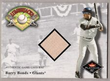 BARRY BONDS LUMBERJACKS GAME USED BAT 2001 FLEER PLATINUM GIANTS